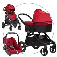 babyjogger city select trio set deluxe babywanne pebble 2016 red Hauptbild