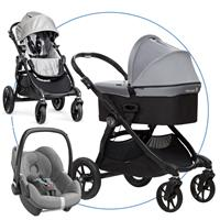 babyjogger city select trio set deluxe babywanne pebble 2016 silber Hauptbild