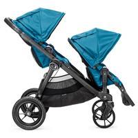 babyjogger city select zwillingskinderwagen 2016 teal beide sitze in fahrtrichtung Detailansicht 01