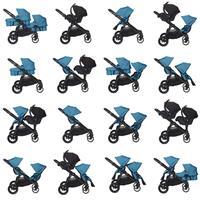 babyjogger city select zwillingskinderwagen 2016 teal kombinationen Ausschnitt 04