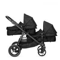 babyjogger city select zwillingswagen mit zwei babywannen 2016 black mit select wannen Detailansicht