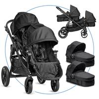 Baby Jogger City Select Zwillingswagen Black