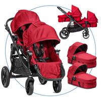 Baby Jogger City Select Zwillingswagen Red