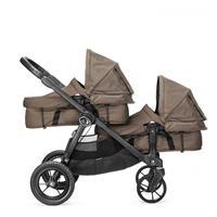 babyjogger city select zwillingswagen mit zwei babywannen 2016 sand mit select wannen Detailansicht