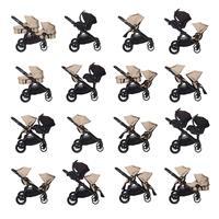 babyjogger city select zwillingswagen mit zwei babywannen 2016 sand moeglichkeiten Detail 05