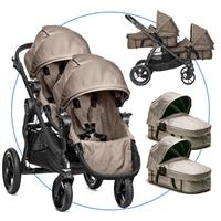 Baby Jogger City Select Zwillingswagen Sand