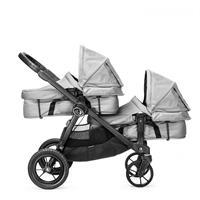 babyjogger city select zwillingswagen mit zwei babywannen 2016 silber mit select wannen Detailansich