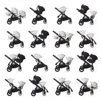 babyjogger city select zwillingswagen mit zwei babywannen 2016 silber moeglichkeiten Auszug 06