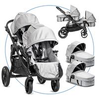 Baby Jogger City Select Zwillingswagen Silber
