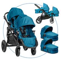 Baby Jogger City Select Zwillingswagen Teal