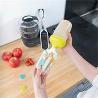 Babymoov Foodii Starter Pack Füllbehälter, Quetschbeutel, Silikonlöffel & Schraubaufsatz