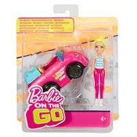 Mattel Barbie On The Go Puppe & Fahrzeug Blond Fahrzeug Pink