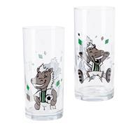 Borussia Mönchengladbach Kinderglas 2er Set ´Die Fohlen´