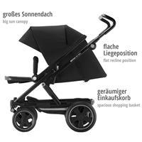 Kinderwagen Britax Go Big2  mit großem Einkaufskorb, Sonnendach & flacher Liegeposition