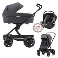 3in1 Kinderwagen Set Britax Go Big2 Graphite Melange mit Gratis Babyschale