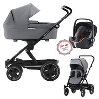 Britax Go Big 2 3in1 Kombikinderwagen Steel Grey mit GRATIS Babyschale