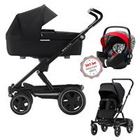 Britax Go Big 2 3in1 Kinderwagen Cosmos Black mit GRATIS Babyschale Letter Design