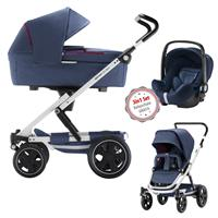 3in1 Kinderwagen Set Britax Go Big2 Oxford Navy mit Gratis Babyschale