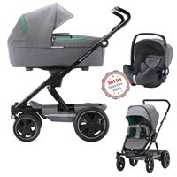 3in1 Kinderwagen Set Britax Go Big2 Dynamic Grey mit Gratis Babyschale