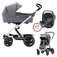 3in1 Kinderwagen Set Britax Go Big2 Grey Melange mit Gratis Babyschale