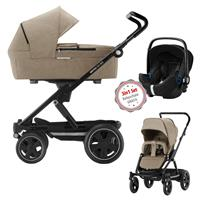 3in1 Kinderwagen Set Britax Go Big2 Sand Melange mit Gratis Babyschale