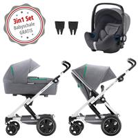 Britax Go Next 2 3in1 Kinderwagen mit Babyschale GRATIS Dynamic Grey