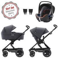 Britax Go Next 2 3in1 Kinderwagen mit Babyschale GRATIS Graphite Melange