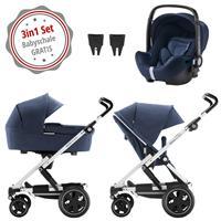 Britax Go Next 2 3in1 Kinderwagen mit Babyschale GRATIS Navy Melange