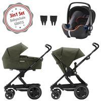 Britax Go Next 2 3in1 Kinderwagen mit Babyschale GRATIS Olive Melange