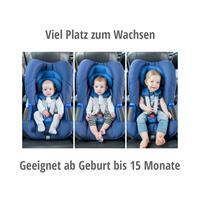 Viel Platz zum Wachsen in der Baby-Safe iSize Babyschale ab Geburt bis 15 Monate