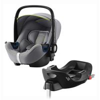 Britax Römer Babyschale Baby-Safe 2 i-Size Bundle inkl. Basis Station Design 2020 Cool Flow Silver