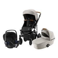 Britax Römer Comfort Set: Kombikinderwagen Smile III & Babyschale Baby-Safe 2 i-Size Beige / Black