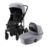 Britax Römer Essential Set: Kinderwagen Smile III & Tragewanne Frost Grey Black