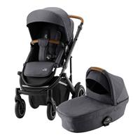 Britax Römer Essential Set: Kinderwagen Smile III & Tragewanne Midnight Grey