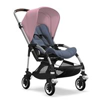 bugaboo bee5 Alu-Blau meliert-Soft Pink | Kinderwagen für die Stadt