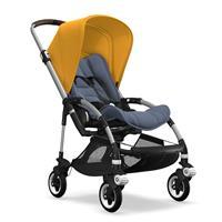 bugaboo bee5 Alu-Blau meliert-Sonnengelb | Kinderwagen für die Stadt