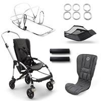 bugaboo bee5 Alu-Grau meliert-Grau meliert | Kinderwagengestell mit Style Set