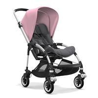 bugaboo bee5 Alu-Grau meliert-Soft Pink | Kinderwagen für die Stadt
