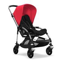 bugaboo bee5 Alu-Schwarz-Neonrot | Kinderwagen für die Stadt