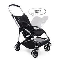 bugaboo bee5 Schwarz-Steel Blue-Soft Pink | Sportsitz 180 Grad zu drehen mit Blick zu Eltern oder in