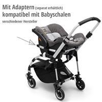 bugaboo bee5 Schwarz-Steel Blue-Soft Pink | mit Babyschale kombinieren - Adapter nicht vergessen