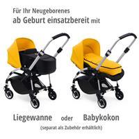 bugaboo bee5 Schwarz-Steel Blue-Sonnengelb | ab Geburt mit Liegewanne oder Babykokon verwenden