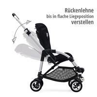 bugaboo bee5 Schwarz-Schwarz-Rubinrot | Rückenlehne bis in flache Liegeposition