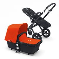 bugaboo Kombikinderwagen Cameleon3 Schwarz / Orange