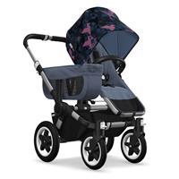 Kinderwagen ab 6 Monate bis 17kg | bugaboo donkey2 mono 2019 Kombikinderwagen Alu/Blau meliert/Birds