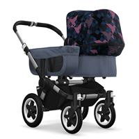 bugaboo donkey2 mono 2019 from birth stroller alu chassis/blue melange/birds