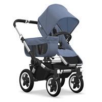 Kinderwagen ab 6 Monate bis 17kg | bugaboo donkey2 mono 2019 Kombikinderwagen Alu/Blau meliert/Blau