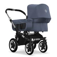 bugaboo donkey2 mono 2019 from birth stroller alu chassis/blue melange