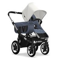 Kinderwagen ab 6 Monate bis 17kg | bugaboo donkey2 mono 2019 Kombikinderwagen Alu/Blau meliert/Fresh