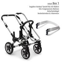 Box 1 Kinderwagengestell | bugaboo donkey2 mono 2019 Kombikinderwagen Alu/Blau meliert/Fresh White